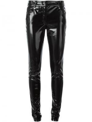 Виниловые брюки Wanda Nylon. Цвет: чёрный