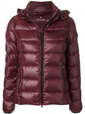 Пуховая куртка на молнии Hetregò. Цвет: красный
