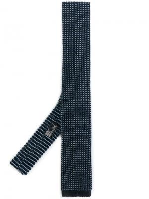 Трикотажный галстук Barba. Цвет: синий