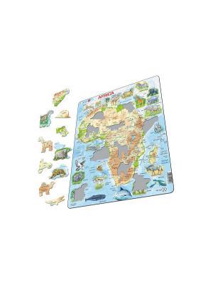 Пазл Животные Африки  LARSEN AS. Цвет: белый, голубой, желтый, зеленый, оранжевый, синий