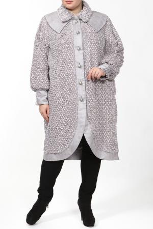 Пальто EVA Collection. Цвет: серый