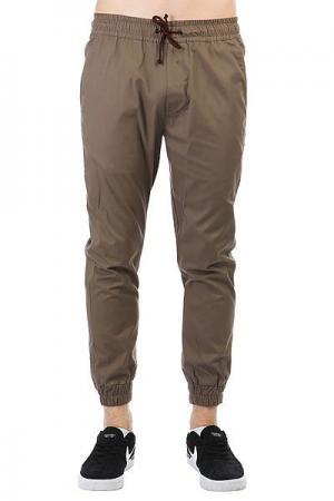 Штаны прямые  Simple Joggers Brown Anteater. Цвет: светло-коричневый