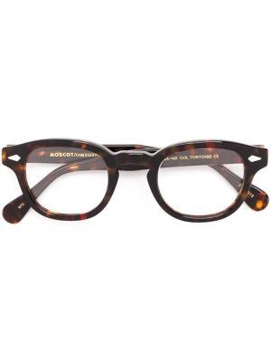 Очки Lemtosh 44 Moscot. Цвет: коричневый