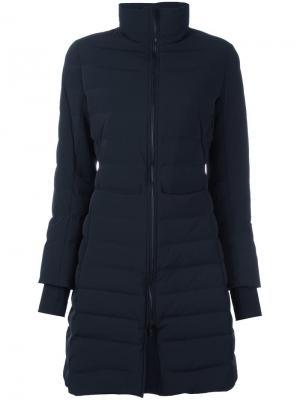 Расклешенное дутое пальто Ahirain. Цвет: чёрный