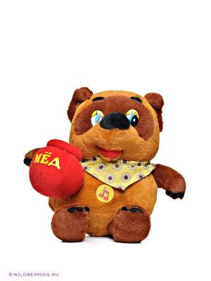 Мягкая игрушка «Винни Пух с горшочком меда» Мульти-пульти. Цвет: коричневый