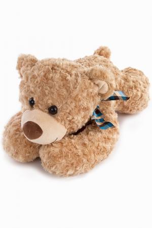 Мишка Денди лежачий, 65 см Fluffy Family. Цвет: мультицвет