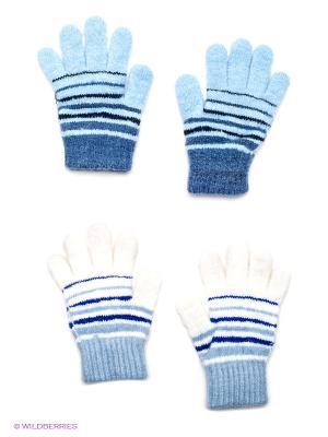 Перчатки, 2 пары FOMAS. Цвет: голубой, белый