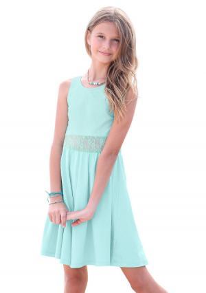 Платье PETITE FLEUR. Цвет: мятный
