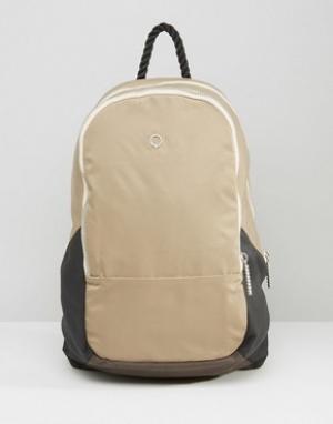 Stighlorgan Хлопковый рюкзак с кожаной отделкой Dara. Цвет: бежевый