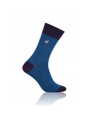 Носки мужские More Steven. Цвет: синий, фиолетовый, бежевый