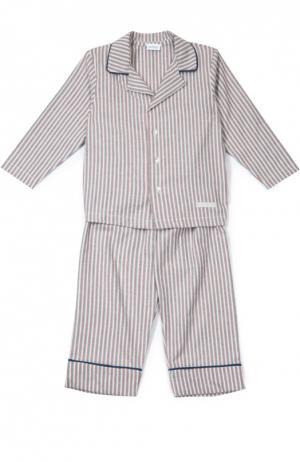 Хлопковая пижама в полоску Grigioperla. Цвет: красный