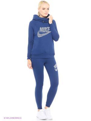 Тайтсы W NSW RALLY PANT TIGHT GX Nike. Цвет: синий