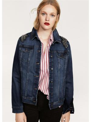 Куртка - SERA Violeta by Mango. Цвет: темно-синий