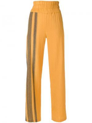Широкие брюки с узором Cecilie Copenhagen. Цвет: жёлтый и оранжевый