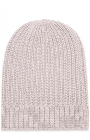 Кашемировая шапка фактурной вязки TSUM Collection. Цвет: темно-бежевый