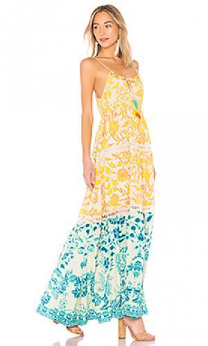 Макси платье clarion HEMANT AND NANDITA. Цвет: желтый