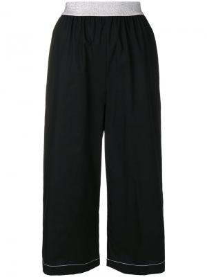 Укороченные широкие брюки  IM Isola Marras I'M. Цвет: чёрный