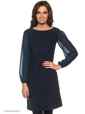 Платье Наталья Новикова. Цвет: темно-синий, бирюзовый, синий