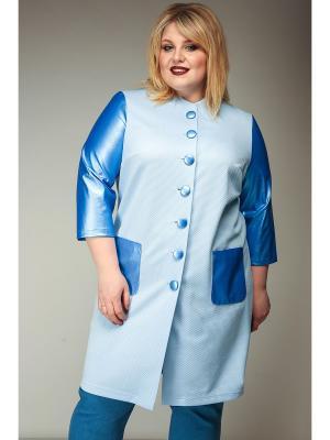 Жакет Jetty-plus. Цвет: голубой, светло-голубой