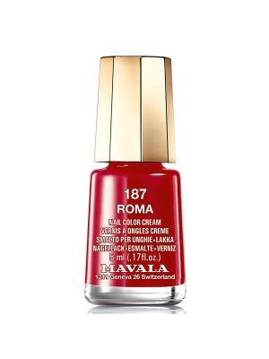 Лак для ногтей тон 187 Roma Mavala. Цвет: темно-красный
