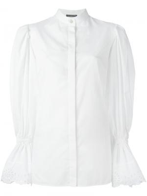 Блузка с объемными рукавами Alexander McQueen. Цвет: белый