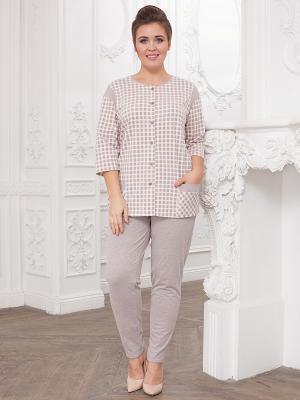 Пижама CLEO. Цвет: светло-коричневый
