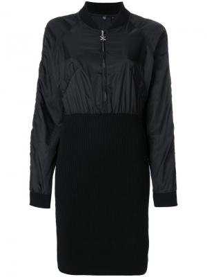 Платье с курткой-бомбер Opening Ceremony. Цвет: чёрный