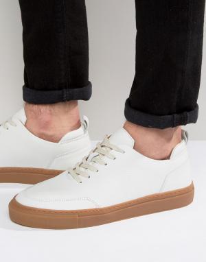 Zign Кожаные кроссовки. Цвет: белый