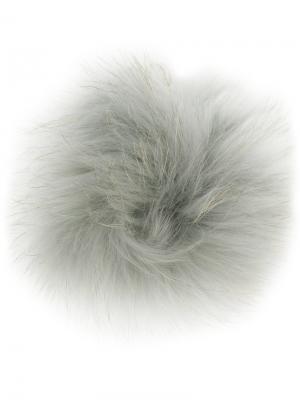 Брелок с меховым помпоном Furla. Цвет: серый