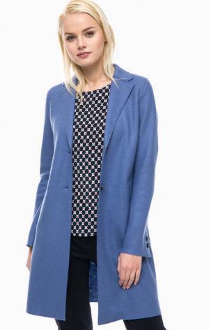 Шерстяное пальто синего цвета Marc O'Polo. Цвет: синий