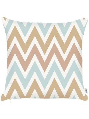 Чехол для декоративной подушки Голубой океан Apolena. Цвет: светло-коричневый