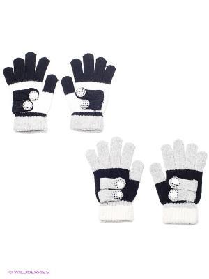 Перчатки, 2 пары FOMAS. Цвет: черный, серый
