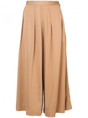 Широкие укороченные брюки Rachel Comey. Цвет: телесный