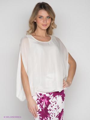 Блузка Elegance. Цвет: молочный