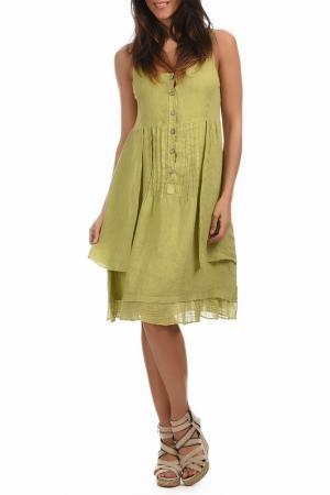 Платье Lin nature. Цвет: зеленый