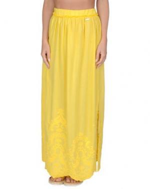Пляжное платье BLUGIRL BLUMARINE BEACHWEAR. Цвет: желтый