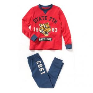 Пижама из джерси с принтом R kids. Цвет: красный/темно-синий