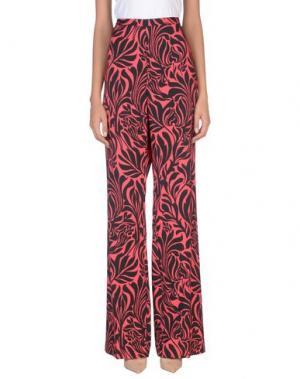 Повседневные брюки MARIA GRAZIA SEVERI. Цвет: коралловый
