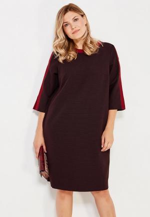 Платье Vis-a-Vis. Цвет: бордовый