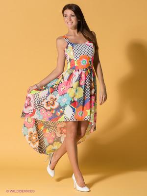 Платье FRENCH HINT. Цвет: темно-синий, розовый