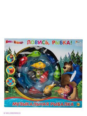 Музыкальная рыбалка Маша и медведь Играем вместе. Цвет: голубой