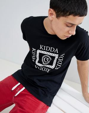 Christopher Shannon Черная футболка Kidda By. Цвет: черный
