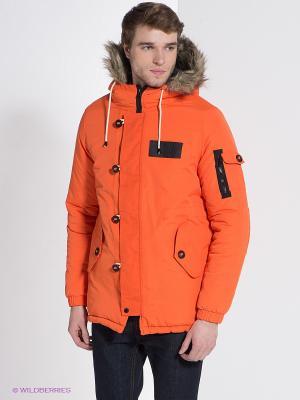 Куртка Bellfield. Цвет: оранжевый