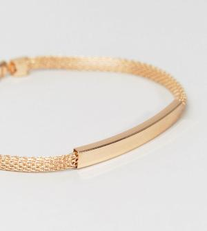 DesignB London Идентификационный браслет-цепочка золотистого цвета эксклюзивн. Цвет: золотой