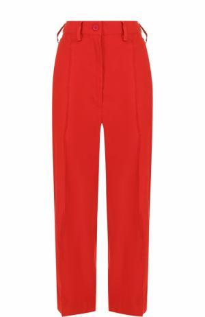 Укороченные брюки прямого кроя со стрелками Mm6. Цвет: красный