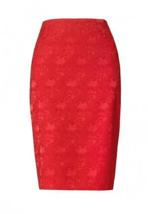 Юбка Emka. Цвет: красный