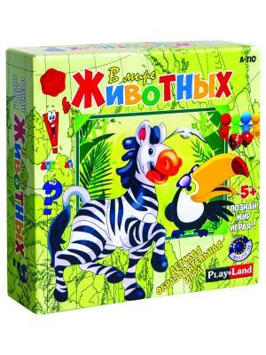 Настольная игра В мире животных PLAY LAND. Цвет: бежевый, белый, бирюзовый, голубой, зеленый, золотистый, индиго, коралловый, коричневый, красный, кремовый, лазурный, лиловый, малиновый, черный