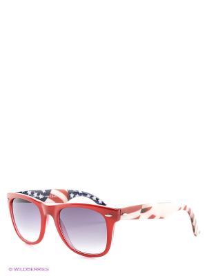 Солнцезащитные очки Franco Sordelli. Цвет: красный, серый