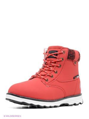 Ботинки STROBBS. Цвет: красный