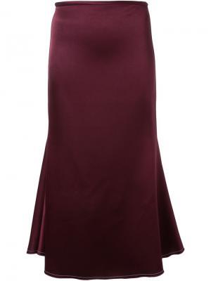 Удлиненная расклешенная юбка Ellery. Цвет: красный